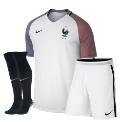 Kit completo bambino trasferta/away Francia EURO 2016