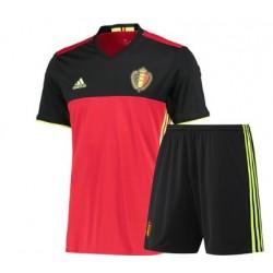 Kit home Belgio maglia+pantaloncini EURO 2016
