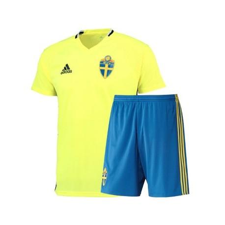 Kit Home Svezia maglia+pantaloncini EURO 2016