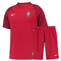 Kit Portogallo Bambino Home maglia+pantaloncini EURO 2016