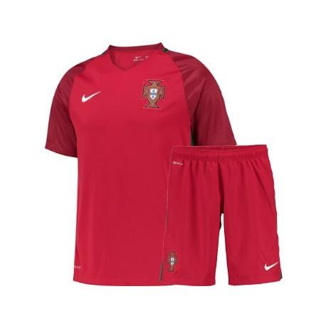 Kit Portogallo Home maglia+pantaloncini EURO 2016