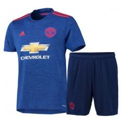 Kit Trasferta/Away Manchester United 2016/17 maglia+pantaloncini