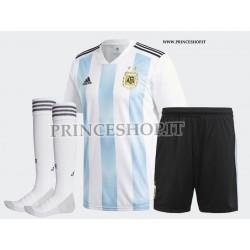 Completo Home Argentina maglia+pantaloncini+calzettoni RUSSIA 2018