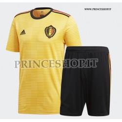 Kit Away/Trasferta Belgio maglia+pantaloncini RUSSIA 2018