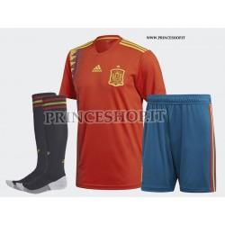Completo Home Spagna maglia+pantaloncini+calzettoni RUSSIA 2018