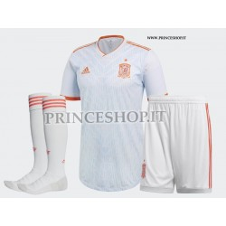 Completo Away/Trasferta Spagna maglia+pantaloncini+calzettoni RUSSIA 2018