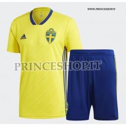 Kit Home Svezia maglia+pantaloncini RUSSIA 2018
