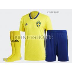 Completo Home Svezia maglia+pantaloncini RUSSIA 2018