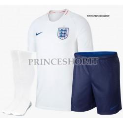 Completo Home Inghilterra maglia+pantaloncini+calzettoni RUSSIA 2018