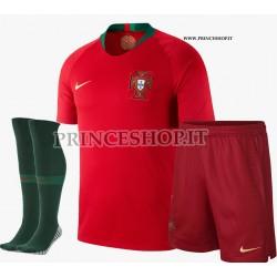 Completo Home Portogallo maglia+pantaloncini+calzettoni RUSSIA 2018