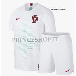 Kit Away/Trasferta Portogallo maglia+pantaloncini RUSSIA 2018