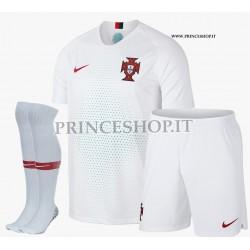 Completo Away/Trasferta Portogallo maglia+pantaloncini+calzettoni RUSSIA 2018