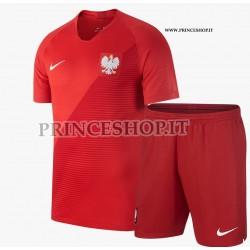 Kit Away/Trasferta Polonia maglia+pantaloncini RUSSIA 2018