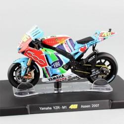 Modellino Moto di Valentino Rossi - Yamaha YZR-M1 YZR M1 Assen 2007