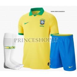 Completo Home Brasile COPA AMERICA 2019 maglia+pantaloncini+calzettoni