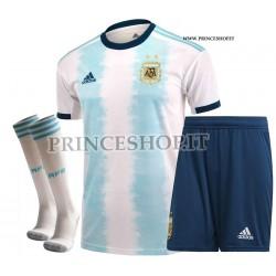 Completo Home Argentina COPA AMERICA 2019 maglia+pantaloncini+calzettoni