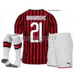 Completo IBRAHIMOVIC - Home Milan 2019/20 maglia+pantaloncini+calzettoni