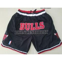 Pantaloncini [NERI] Chicago Bulls Just Don con tasche