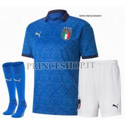 Completo Home Italia EURO 2020-21 maglia+pantaloncini+calzettoni