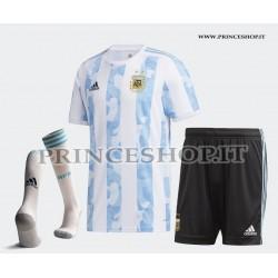 Completo Home Argentina COPA AMERICA 2021 maglia+pantaloncini+calzettoni
