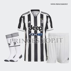 Completo Home juventus 2021/22 maglia+pantaloncini+calzettoni