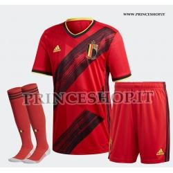Completo Home Belgio EURO 2020-21 maglia+pantaloncini
