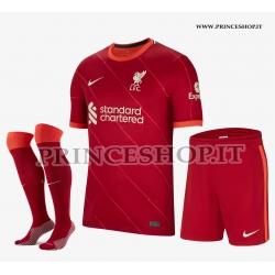 Completo Home Liverpool maglia+pantaloncini+calzettoni 2020/21