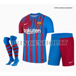 Completo Home Barcellona maglia+pantaloncini+calzettoni 2021/22