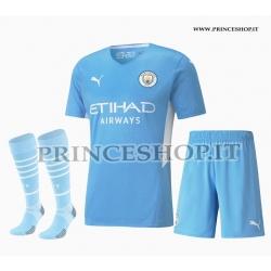 Completo Home Manchester City maglia+pantaloncini+calzettoni 2021/22