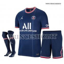 Completo Home PSG maglia+pantaloncini+calzettoni 2021/22
