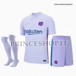 Completo Away Barcellona 2021/22 maglia+pantaloncini+calzettoni
