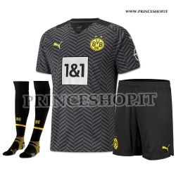 Completo Away Borussia Dortmund maglia+pantaloncini+calzettoni 2021/22