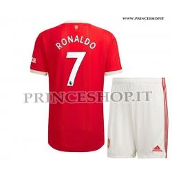 Kit Home Manchester United 2022 di Cristiano RONALDO