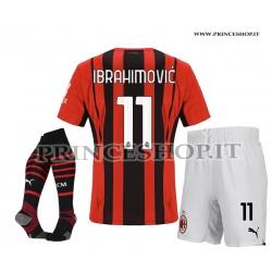 Completo IBRAHIMOVIC - Home Milan 2021/22 maglia+pantaloncini+calzettoni